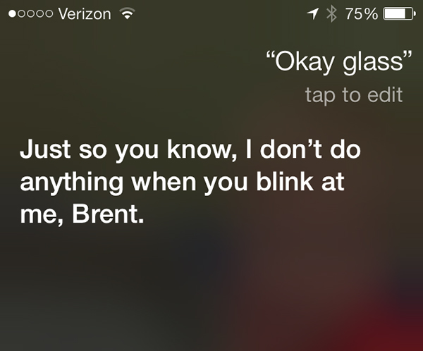 Siri Gets Sassy With Swipes At Google Glass
