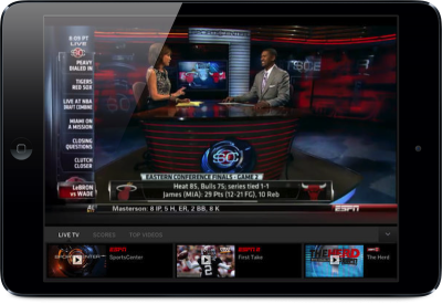 The WatchESPN App Now Includes A Live Toolbar Featuring Scores And Stats