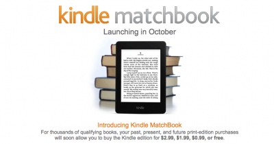 Convert Printed Books To Digital Format With Amazon's New Kindle MatchBook Service