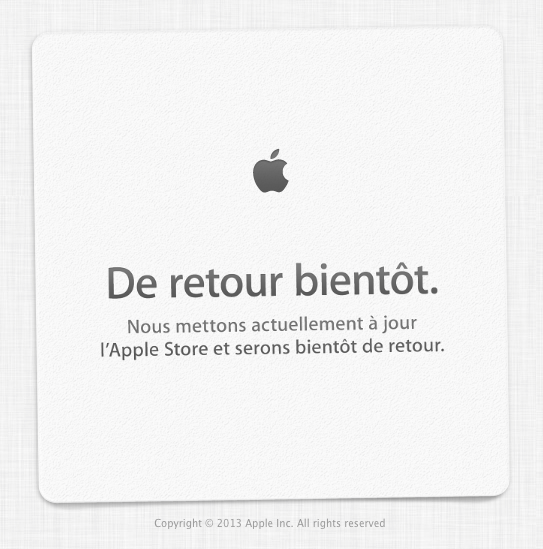 It Begins As Apple Store Goes Offline