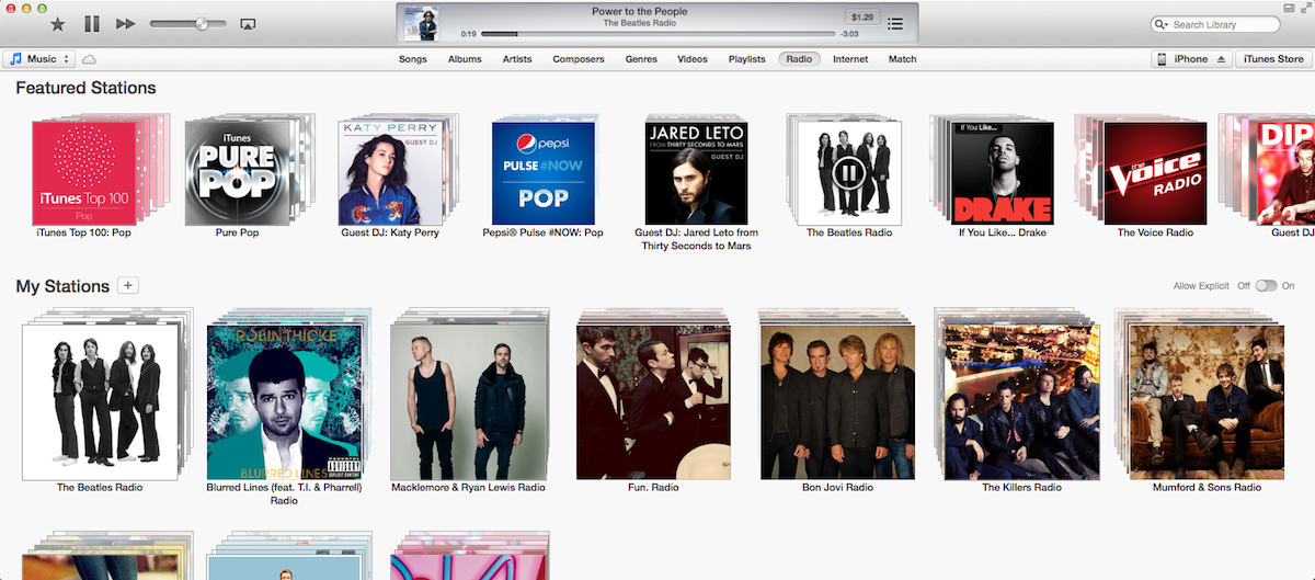 Apple's iTunes Radio On The Mac Is Finally Starting To Rock