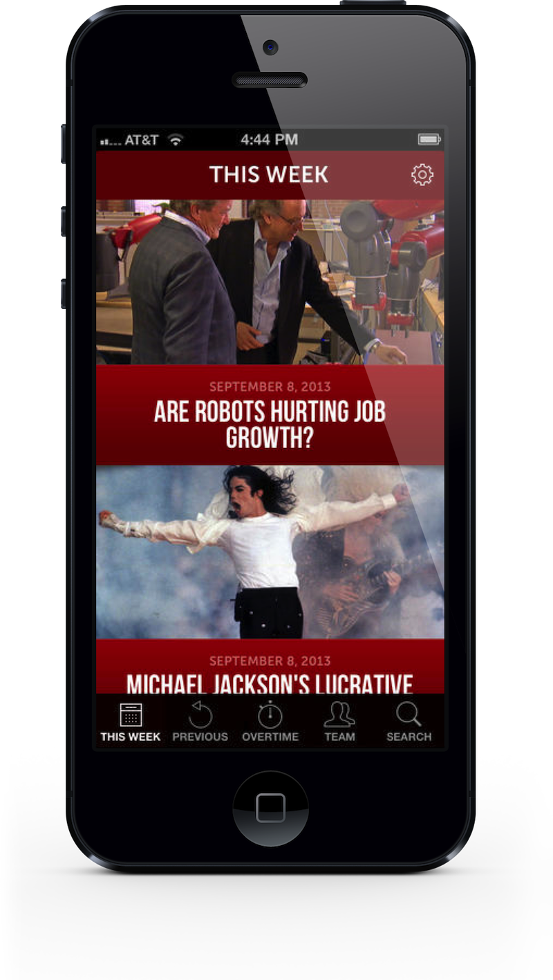 60 Minutes app for iPhone