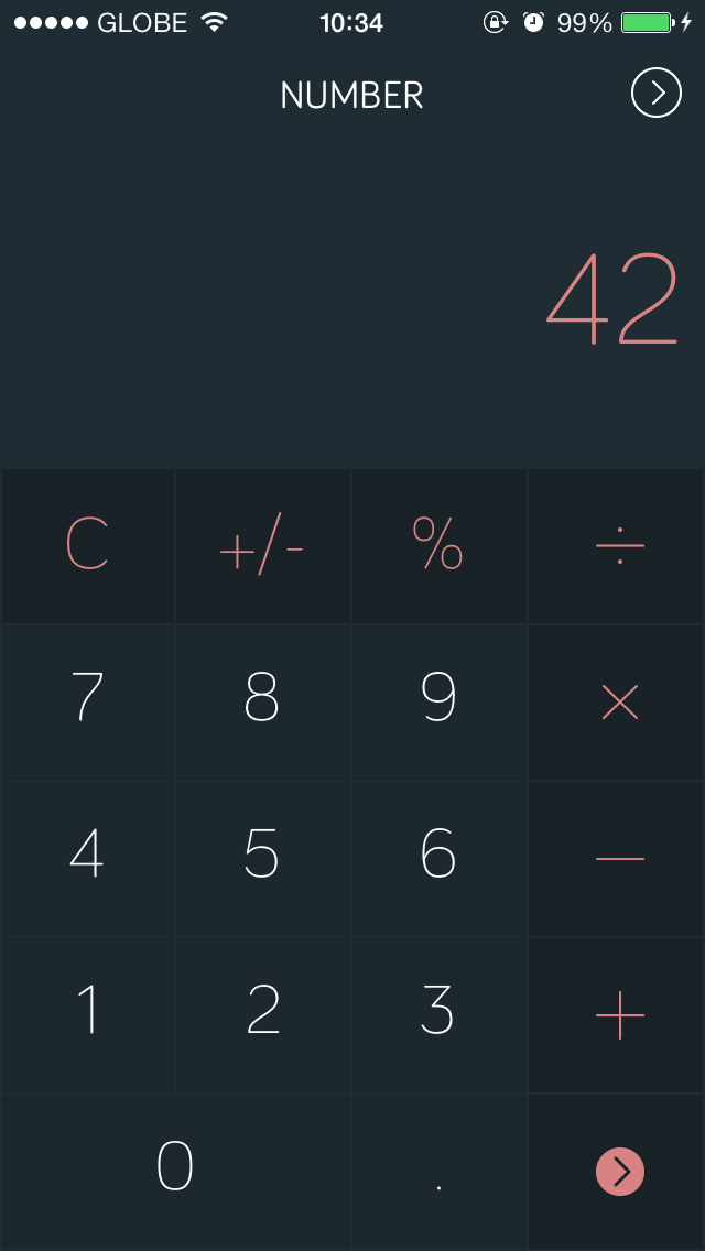 Minimalist Conversion App Amount Gets iOS 7 Redesign, Gains Calculator Function