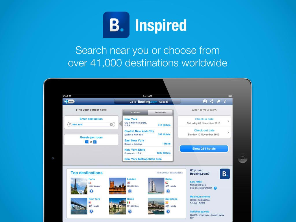 Booking.com Hotel Reservation App Updated With New Wish List Feature On iOS