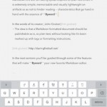 Byword Now Optimized For iOS 7 With New Design And New Features
