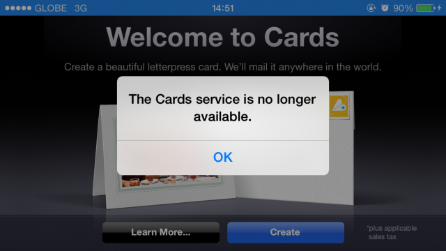 Apple Quietly Discontinues Cards Greeting Card Service, Suggests iPhoto For Mac