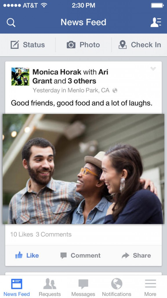 how to change the picture on a facebook post