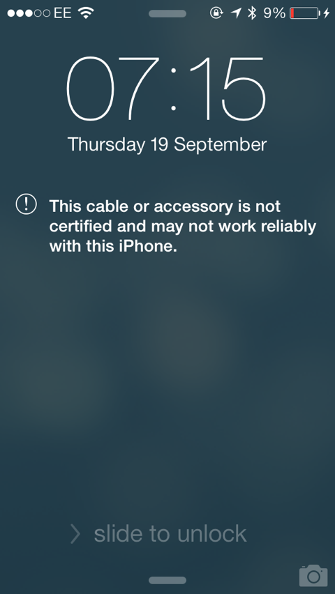 Apple's iOS 7 Could Render Your Non-Certified Lightning Charger Unusable