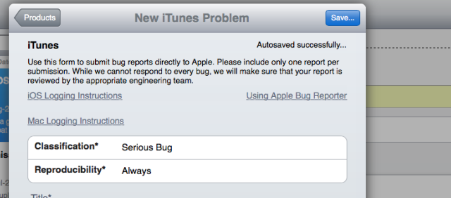 Developers Can Now Access Apple's Enhanced Bug Reporting Tool