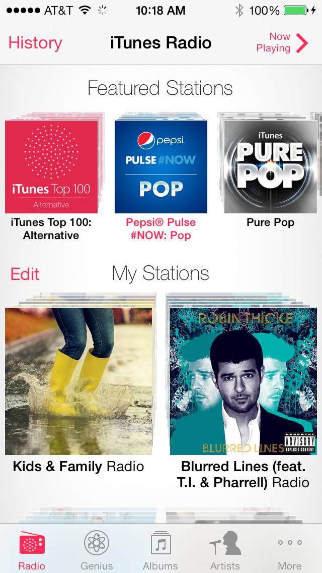 Apple Refreshes iTunes Radio In Preparation For A Demo During Today's Event