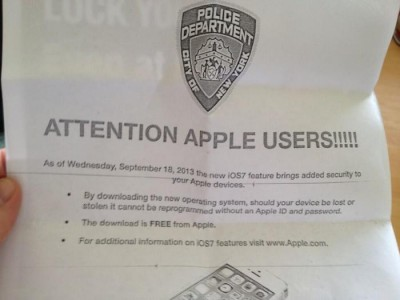 The New York Police Department Says: Download iOS 7, Now!