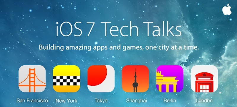 Apple Confirms The Schedule For Its iOS 7 'Tech Talks' International Tour