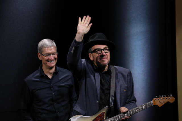 Music Legend Elvis Costello Takes To The Stage At Apple's Special Event
