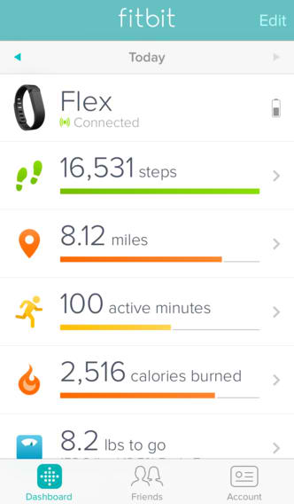 Fitbit Gets Fit And Optimized For iOS 7 With New Design And Background Syncing
