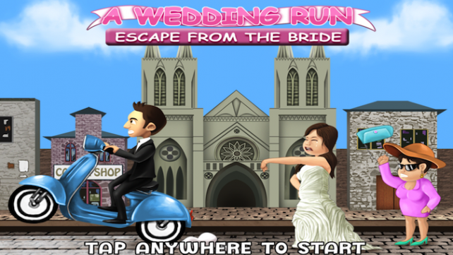 Quirky App Of The Day: A Wedding Run: Escape From The Bride