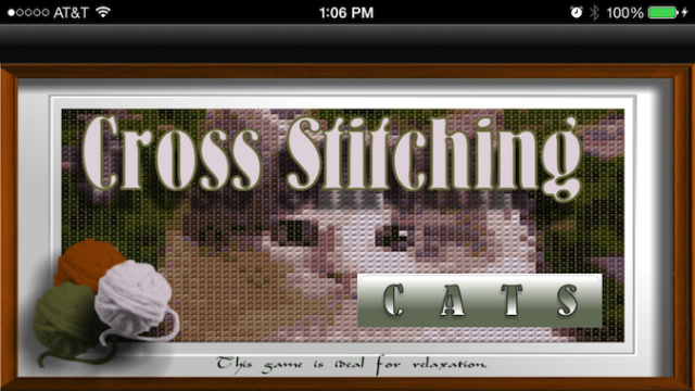 Quirky App Of The Day: Find A Way To Relax By Cross Stitching Cats