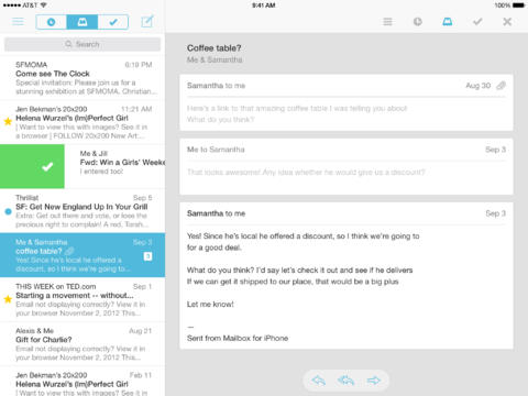 Mailbox Delivers iOS 7 Update To Help You Achieve Inbox Zero With Zero Visual Clutter
