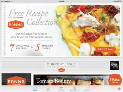 Video Cooking Magazine App Panna Cooks Mouthwatering UI Update For iOS 7