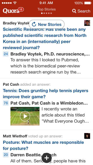 Quora Gets Redesigned For iOS 7, Klout Releases Very Own Q&A App Called Cinch