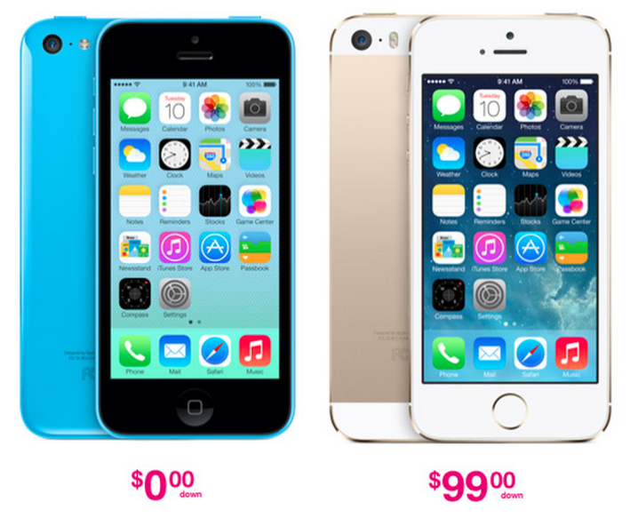 tmobile iphone 5s t mobile to offer 0 on iphone 5c 99 on iphone 5s 13112