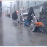 In Japan, Typhoon Disrupts iPhone Queue As Customers Take Refuge In Apple Store