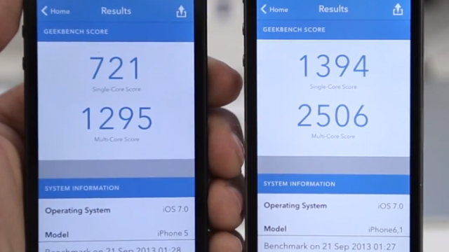 Video: iPhone 5s Versus iPhone 5 Benchmark Test