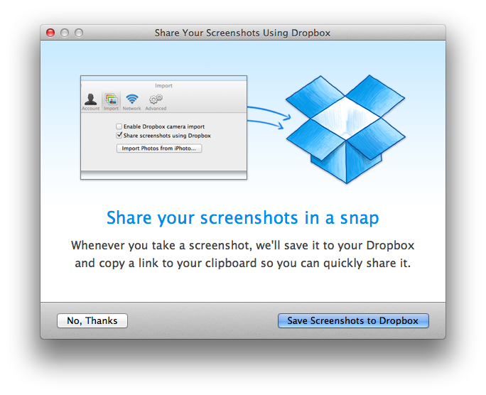 Dropbox For Mac Updated With Automatic Screenshot Upload And iPhoto Importer