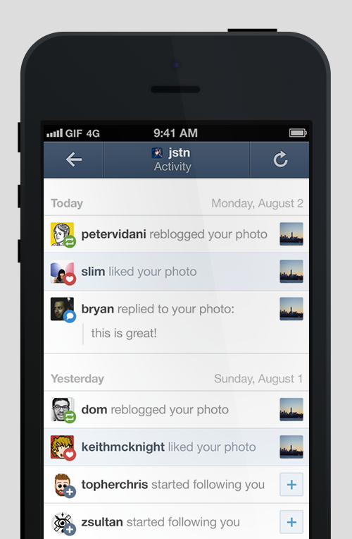 Tumblr For iOS Updated With Push Notifications For Likes, Reblogs And More