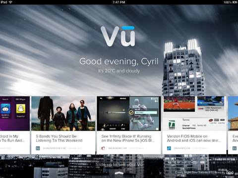 View The Best Articles From All Over The Web With Vu, Now Designed For iOS 7 And iPad