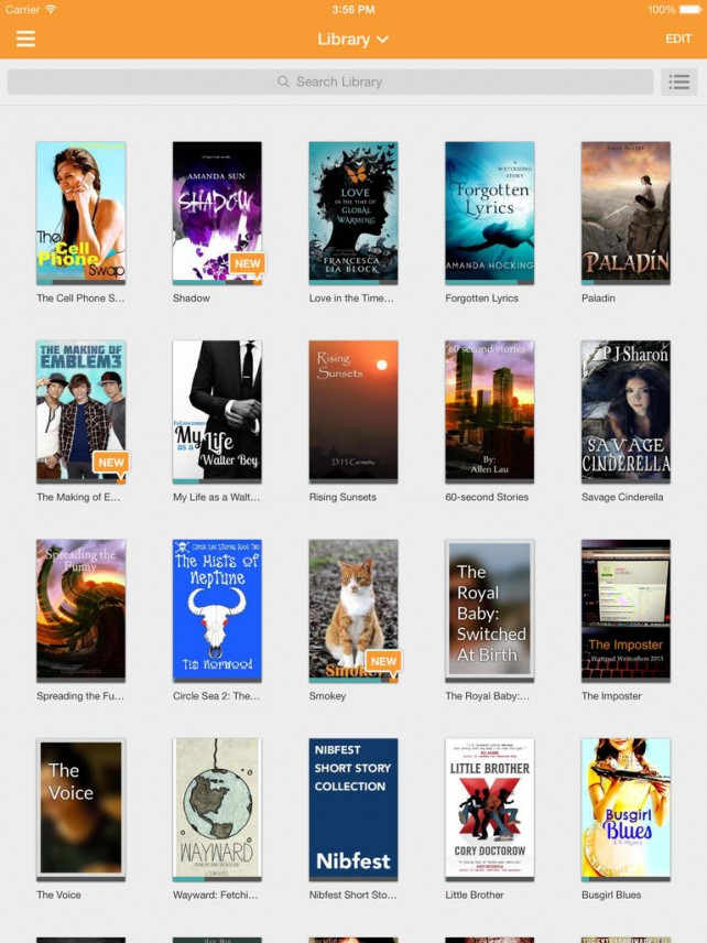 Wattpad E-Reading App Updated For iOS 7 With Flat UI And Sidebar Navigation