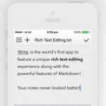 Write For iPhone 2.0 Features iOS 7 Redesign, New Themes, Rich Text Editing And More