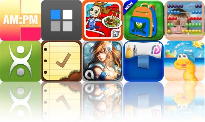 Today's Apps Gone Free: Coloring Clock, PixArtist, Cooking Dash And More