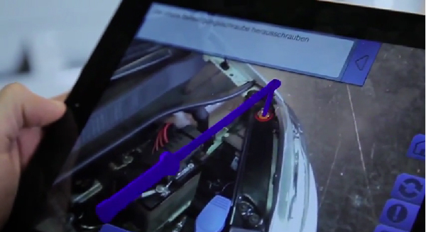 German Automaker Volkswagen Unveils An Augmented Reality Repair App