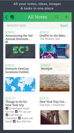 Evernote Update Brings A Clean And Simple Look To Match iOS 7