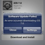 Some Users Reporting Error Messages When Trying To Download iOS 7