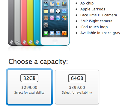 Apple Gives iPod Lineup 'Space Gray' Treatment Alongside New iPhone 5S