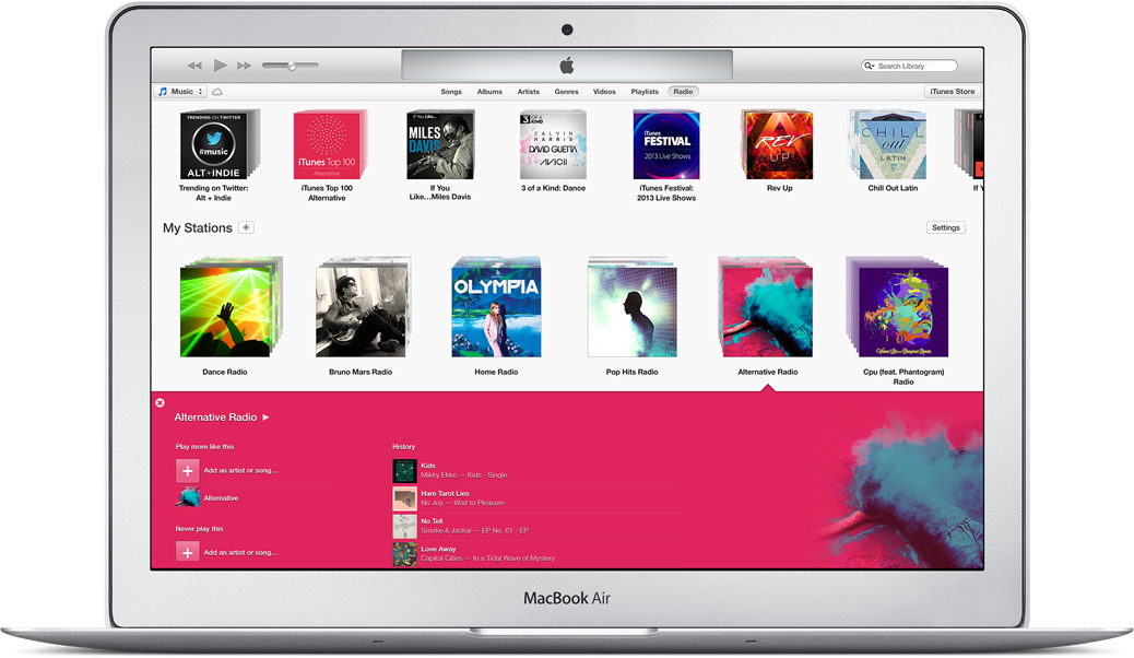 Ahead Of iOS 7 Launch, Apple Releases iTunes 11.1 Featuring iTunes Radio And More