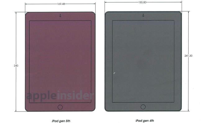Leaked Specs Reveal A Thinner Bezel Design For Apple's iPad 5
