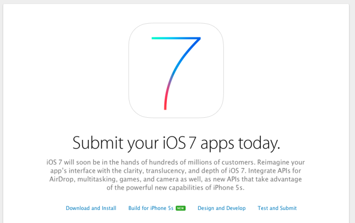 Apple Is Now Accepting iOS 7 App Submissions, Releases 64-Bit Transition Guide