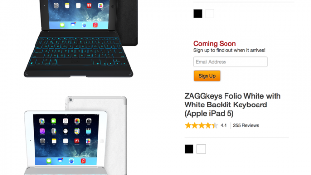 ZAGG Posts Thinner Backlit Keyboard Cases For Apple's iPad 5 Online
