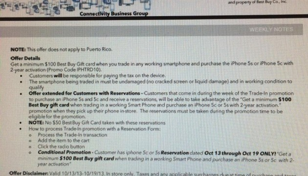Best Buy Preparing $100 Trade-In Promotion For iPhone 5s, iPhone 5c
