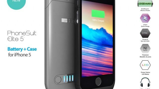 PhoneSuit Unveils Its Own Elite Battery Case For The iPhone 5s