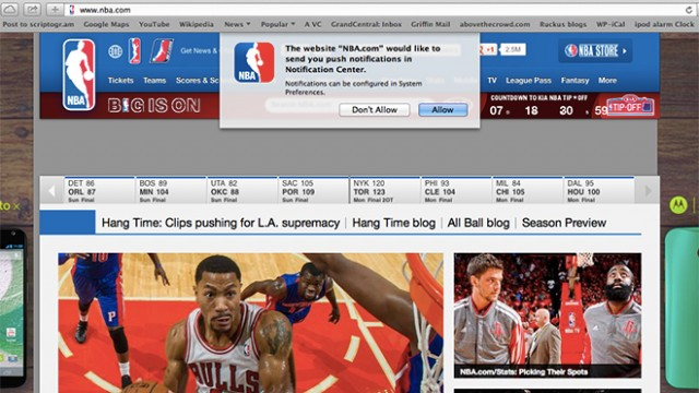 Websites Now Activating Safari Push Notifications Ahead Of Mavericks
