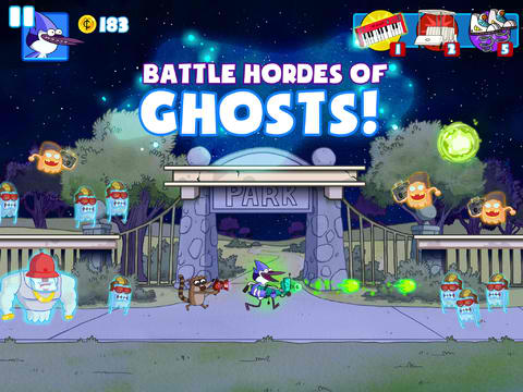 Cartoon Network Unleashes New Ghost Toasters - Regular Show Platform Shooter