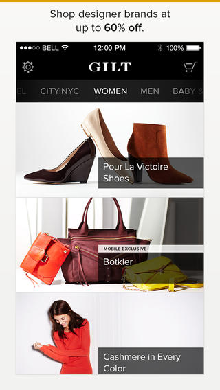 Shop In Style: Gilt For iPhone Updated With iOS 7 Redesign Plus Other Improvements