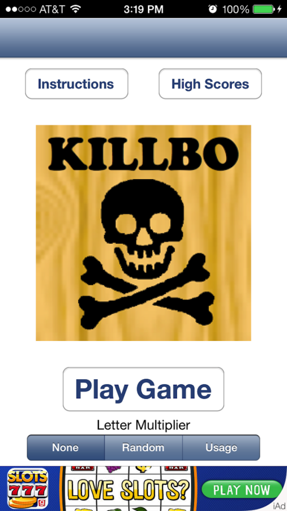 Quirky App Of The Day: Swap Letters And Tiles In Killbo HD