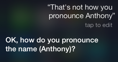 Teach Siri How To Pronounce Contact Names Correctly In iOS 7