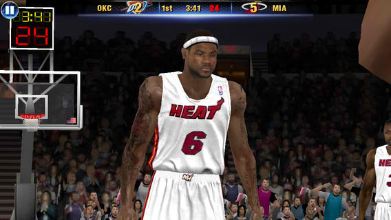 NBA 2K14 Dribbles Into The App Store, Features Miami Heat's LeBron James