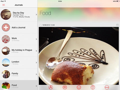 Narrato Journal 2.0 Features iPad Support, Social Sharing And iOS 7 Optimizations