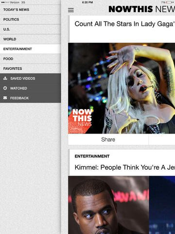 NowThis News Redesigned For iOS 7, Updated With AirDrop And AirPlay Support
